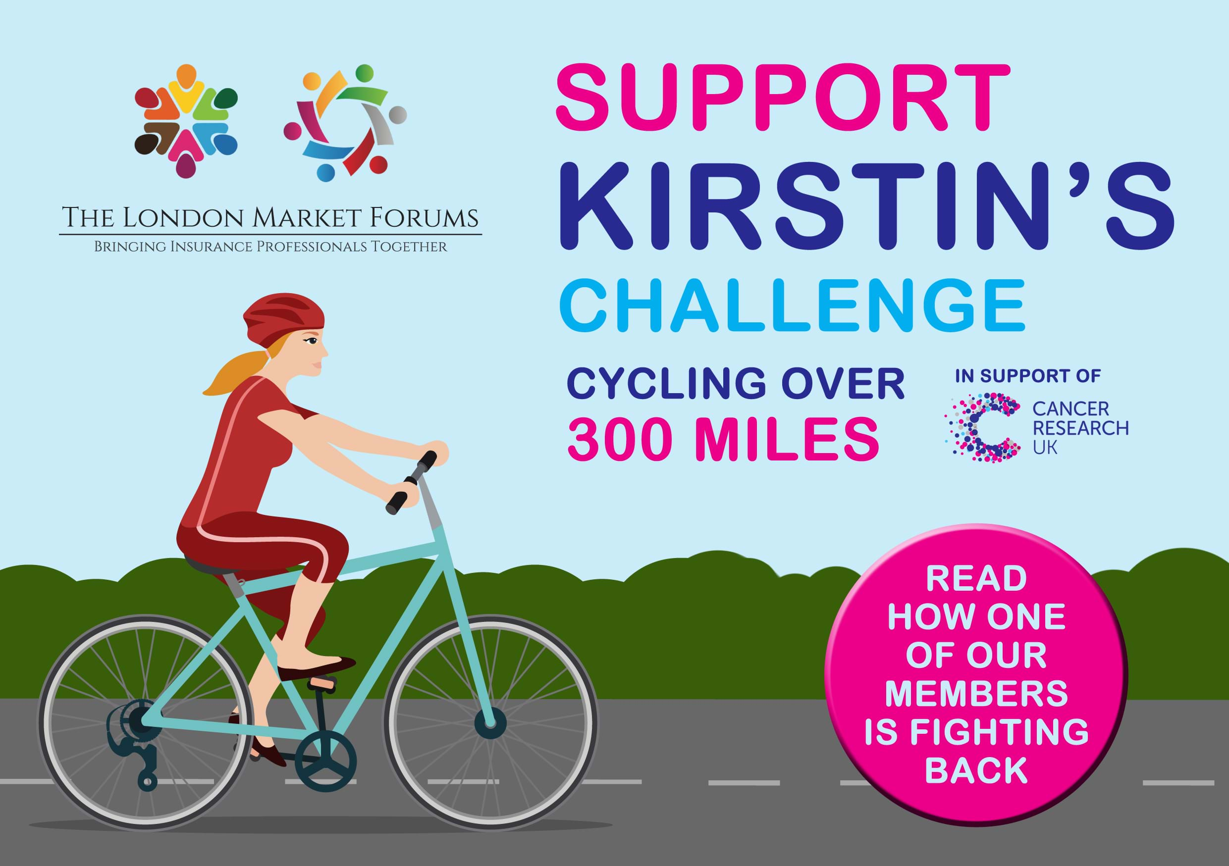 Kirstin's Cycle 300 Fundraising