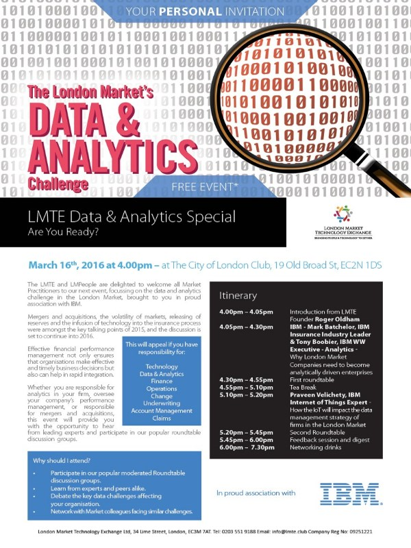 Data and Analytics Flyer