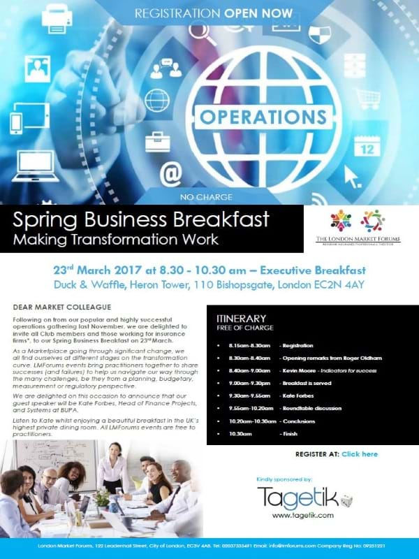 Spring Business Breakfast
