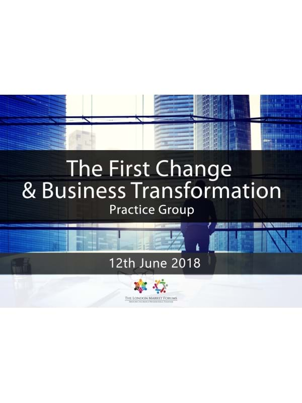 The First Change & Business Transformation PG