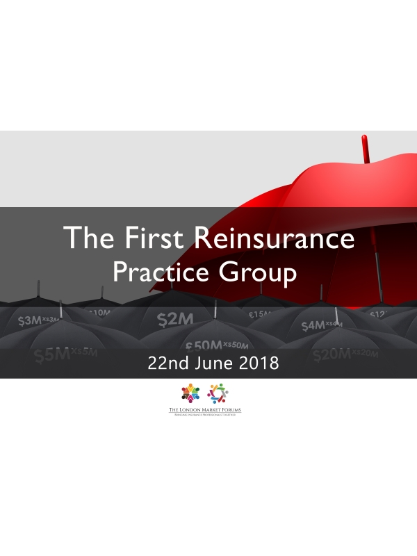 The First Reinsurance Practice Group