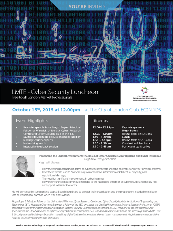 Cyber Security Luncheon