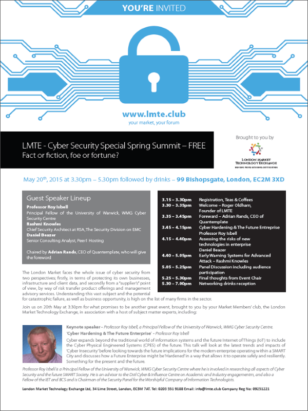 Cyber Security Special Spring Summit